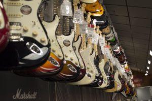 verschiedene e Gitarren